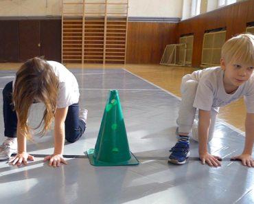 Štarty z vývojových polôh na tréningu O2 Športová akadémia Mateja Tótha